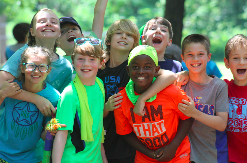 Kids at Camp Fire Heart of Oklahoma