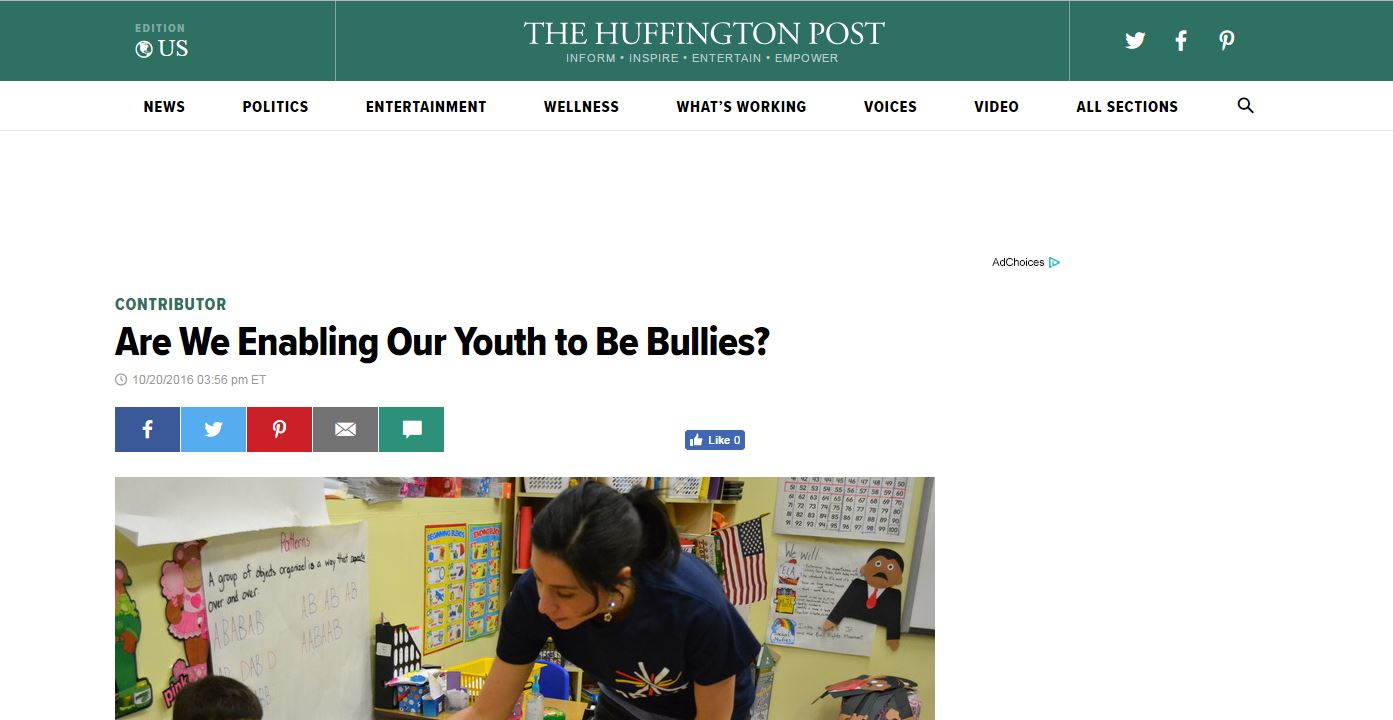 Are We Enabling Our Youth to Be Bullies?