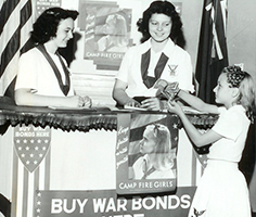 1944 War Bonds Camp Fire Girls