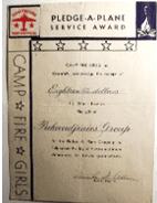 1944 Camp Fire Girls Pledge a Plane project